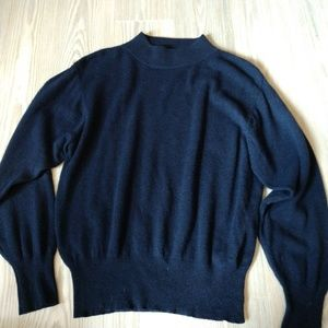 Glenover 100% Cashmere Mock Turtleneck Sweater